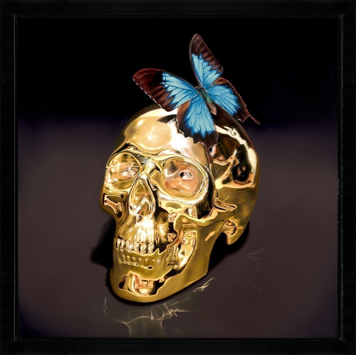 Butterfly Kiss by Rory Hancock - Limited Edition Glazed Box Canvas sized 26x26 inches. Available from Whitewall Galleries